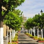 Plaza Tapatia leading to Hospicio Cabanas in Guadalajara, Jalisco, Mexico — Stock Photo
