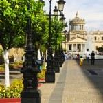 Plaza Tapatia leading to Hospicio Cabanas in Guadalajara, Jalisco, Mexico — Stock Photo #4719544