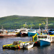 Stock Photo: Fishing boats in Newfoundland