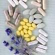 Herbal supplement pills — Stock Photo