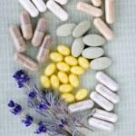 Herbal supplement pills — Stock Photo #4719595