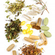 Herbal supplement pills - Stock Photo