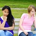 Bored teenage girls — Stock Photo #4719633