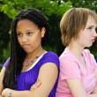 Angry teenage girls — Stock Photo