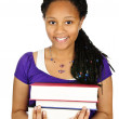 Girl holding text books — Stock Photo #4719657