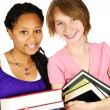 Girl holding text books - Stock Photo