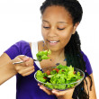 Girl having salad — Stock Photo #4719674