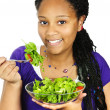 Girl having salad — Stock Photo #4719678