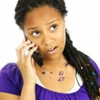 Teen girl with mobile phone — Stock Photo #4719715