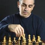 Man playing chess — Stock Photo #4719746