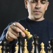 Man playing chess — Stock Photo #4719749