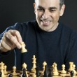 Man playing chess — Stock Photo #4719761