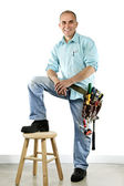 Smiling handyman — Photo