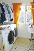 Laundry room — Stock Photo