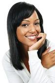 Mujer joven sonriendo — Foto de Stock