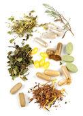 Herbal supplement pills — Stock Photo