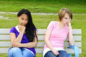 Bored teenage girls — Stock Photo