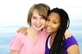 Happy teenage girlfriends — Stock Photo