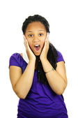 Teenage girl surprised — Stock Photo