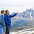 Father and daughter in mountains — Stock Photo #4720011