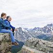 Father and daughter in mountains — Stock Photo #4720014