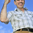 Happy man gesturing — Stock Photo