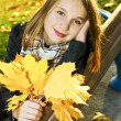 Teenage girl in the fall — Stock Photo #4720105