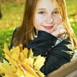 Teenage girl in the fall — Stock Photo #4720108