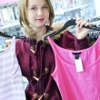 Teenage girl shopping - Foto de Stock