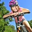 Teenage girl on a bicycle — Stock Photo #4720170