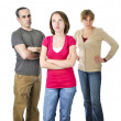 Teenage girl in trouble with parents — Stock Photo #4720231