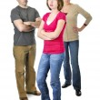 Teenage girl in trouble with parents — Stock Photo #4720232