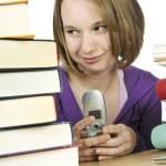 Teenage girl studying — Stock Photo