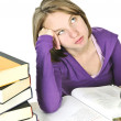 Teenage girl studying - Stock Photo