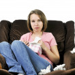 Teenage girl with a cold — Stock Photo #4720266
