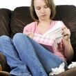 Teenage girl with a cold — Stock Photo #4720267