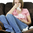 Teenage girl with a cold — Stock Photo