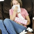 Teenage girl with a cold — Stock Photo #4720272