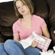 Teenage girl with a cold — Stock Photo #4720274
