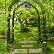 Lush green garden — Stock Photo