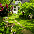 Stock Photo: Home and garden