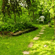 Stock Photo: Green garden