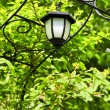 Arbor with lantern — Stock Photo