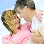 starší romantický pár — Stock fotografie