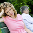 Mature couple having relationship problems - Stock Photo