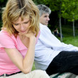 Stockfoto: Mature couple having relationship problems