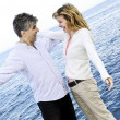Carefree mature couple — Stock Photo
