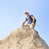 Man climbing — Stock Photo