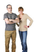 Stern parents looking angry — Stock Photo