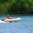 Boating on river - Stock Photo